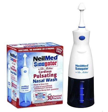 NeilMed Sinugator Cordless Pulsating Nasal Wash 电动脉冲式洗鼻器(赠30袋洗鼻盐)
